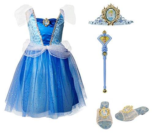 Disney Princess 94905 Cinderella Tiara to Toes Dress Up Set Costume