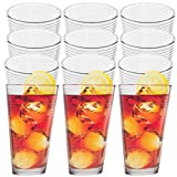 Cheap Anchor Hocking (12 Pack)14oz Thick Drinking Glasses Set Clear Glass Beverage Tumbler Glassware Cups
