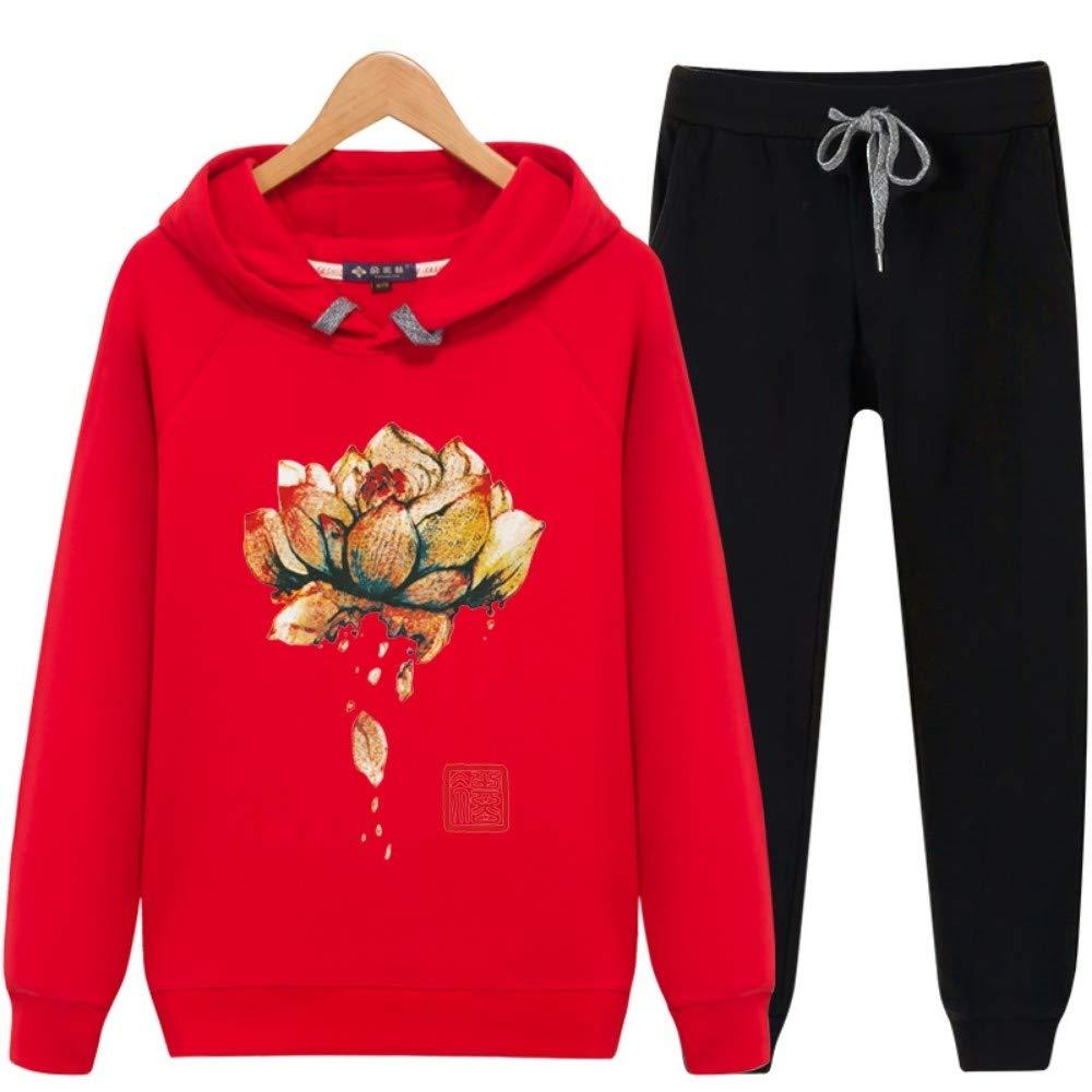 RGFSW Lotus Hood Sweater Traje de Resorte con Capucha ...
