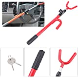 Ambienceo Steering Wheel Lock Anti Theft Locking Security System Device for Car Truck SUV Auto Club