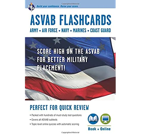 Asvab Flashcard Book Military Asvab Test Preparation Drucker Lisa Editors Of Rea 9780738609089 Amazon Com Books