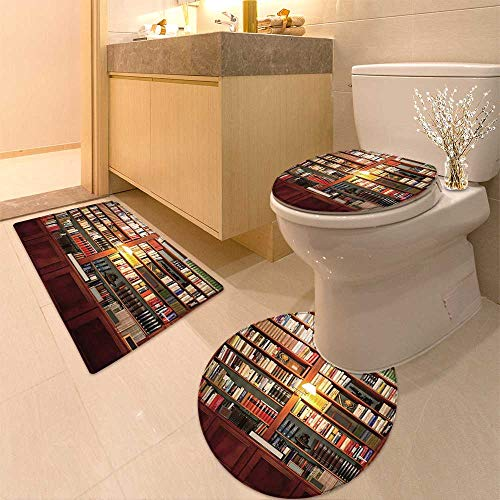 Barcelona Library Set - HuaWuhome 3 Piece Extended Bath mat Set Library Flat Widen