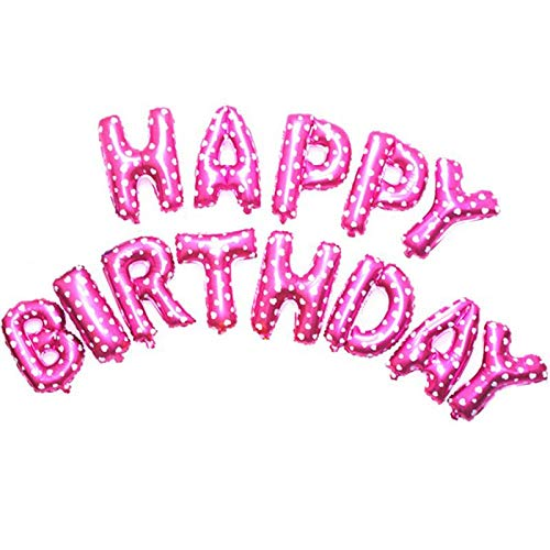 Pink Happy Birthday Letter Balloons.16 Inch Pink Alphabet Letters Balloons Happy Birthday Party