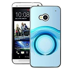 A-type Arte & diseño plástico duro Fundas Cover Cubre Hard Case Cover para HTC One M7 (Ring Future Water Grey Gray)