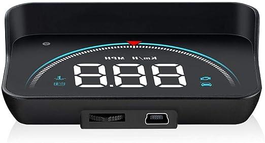 M8 Car HUD Head Up Display OBD2 II Speed Warning System Speedometer Projector
