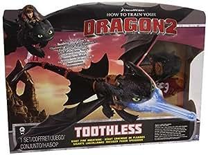 Dragons Night Strike Toothless Deluxe - figuras de juguete para niños (Negro, Azul, AAA, Window box)