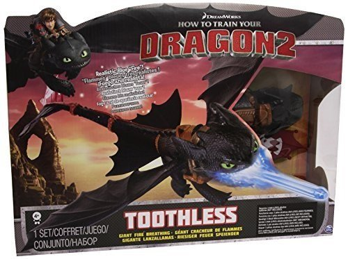 Giant Fire Breathing Toothless - Blue Dragon Breathing Fire