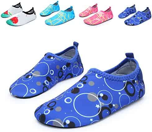 L-RUN Children's Swim Water Shoes Barefoot Aqua Socks for Beach Pool Surfing Yoga