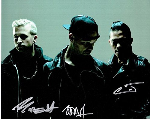 - Glitch Mob Signed - Autographed Complete Group 8x10 inch Photo - Guaranteed to pass or JSA - ediT (Edward Ma), Boreta (Justin Boreta), and Ooah (Josh Mayer) - PSA/DNA Certified