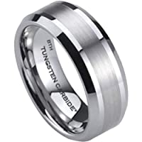 Mens Tungsten Ring-Affordable Luxury Scratch Proof Tungsten Carbide Wedding Engagement Jewelry Band Ring (Most Sizes Available)