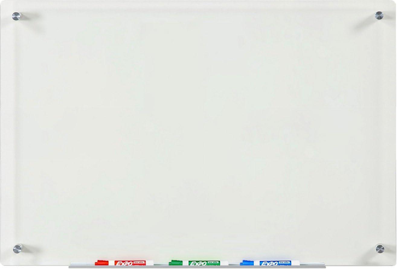 da Parete per Calamite e Pennarelli Scrivibile e Cancellabile Lavagna Magnetica Bianca Varie misure Cucina Scuola Ufficio 80X110 cm Combinata