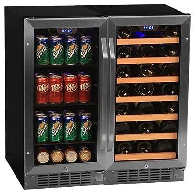 EdgeStar CWBV8030 30 Inch Wide 30 Bottle 80 Can Side-by-Side Wine and Beverage C