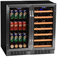 Edgestar CWBV8030 30 Bottle + 80 Can Side-by-Side 30 Wide Wine & Beverage Center