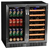 "Appliances : Edgestar CWBV8030 30 Bottle + 80 Can Side-by-Side 30"" Wide Wine & Beverage Center"