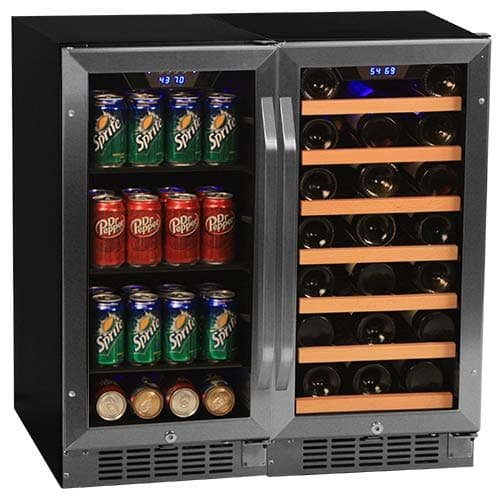 "Edgestar 30 Bottle + 80 Can Side-by-Side 30"" Wide Wine & Beverage Center"