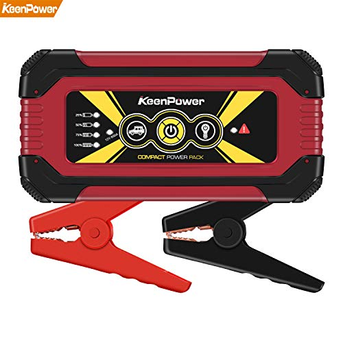 KeenPower 12000mAh 600A SuperSafe Car Jump Starter(Up to 6.0 Gas or 3.0 Diesel Engine) 12V Portable Power Pack Auto Battery Booster Phone Charger Built-in LED Light (RED600)
