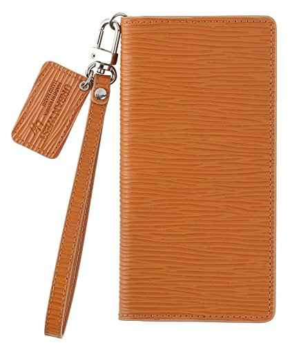 Cow Leather Handmade Cell Phone Case for Samsung Galaxy S8 Plus+ (Camel) by URBANWEST