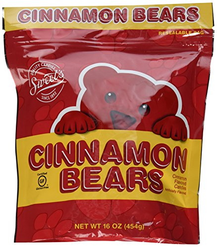 Cinnamon Bears Candy, 16 oz Resealable Bags (Pack of 2) -