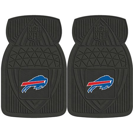 NFL 4-Piece Front #36572618 and Rear #19888882 Heavy-Duty Vinyl Car Mat Set, Buffalo Bills by Sports Licensing Solutions LLC