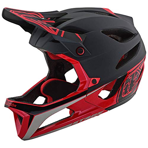 Troy Lee Designs Adult Full Face | Enduro | Downhill | Trail | Mountain Biking Stage Race Helmet with MIPS (X-Large/XX-Large, Black/Red)