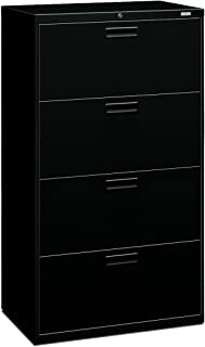 product image for HON 574LP 500 Series 30 by 53-1/4 by 19-1/4-Inch 4-Drawer Lateral File, Black