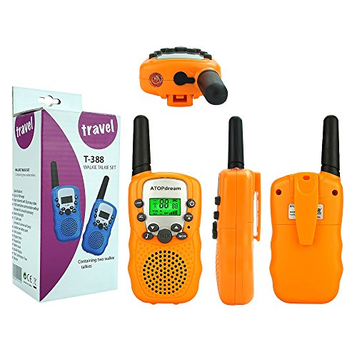 Toys for 3-12 Year Old Girls,TOP Gift Handheld Walkie Talkies for Kids Built in Flash Light Best Hallo Gifts Toys for 3-12 Year Old Boys 2018 Christmas New Gifts for Kids Boys Girls 3-12 Orange TGDJ05