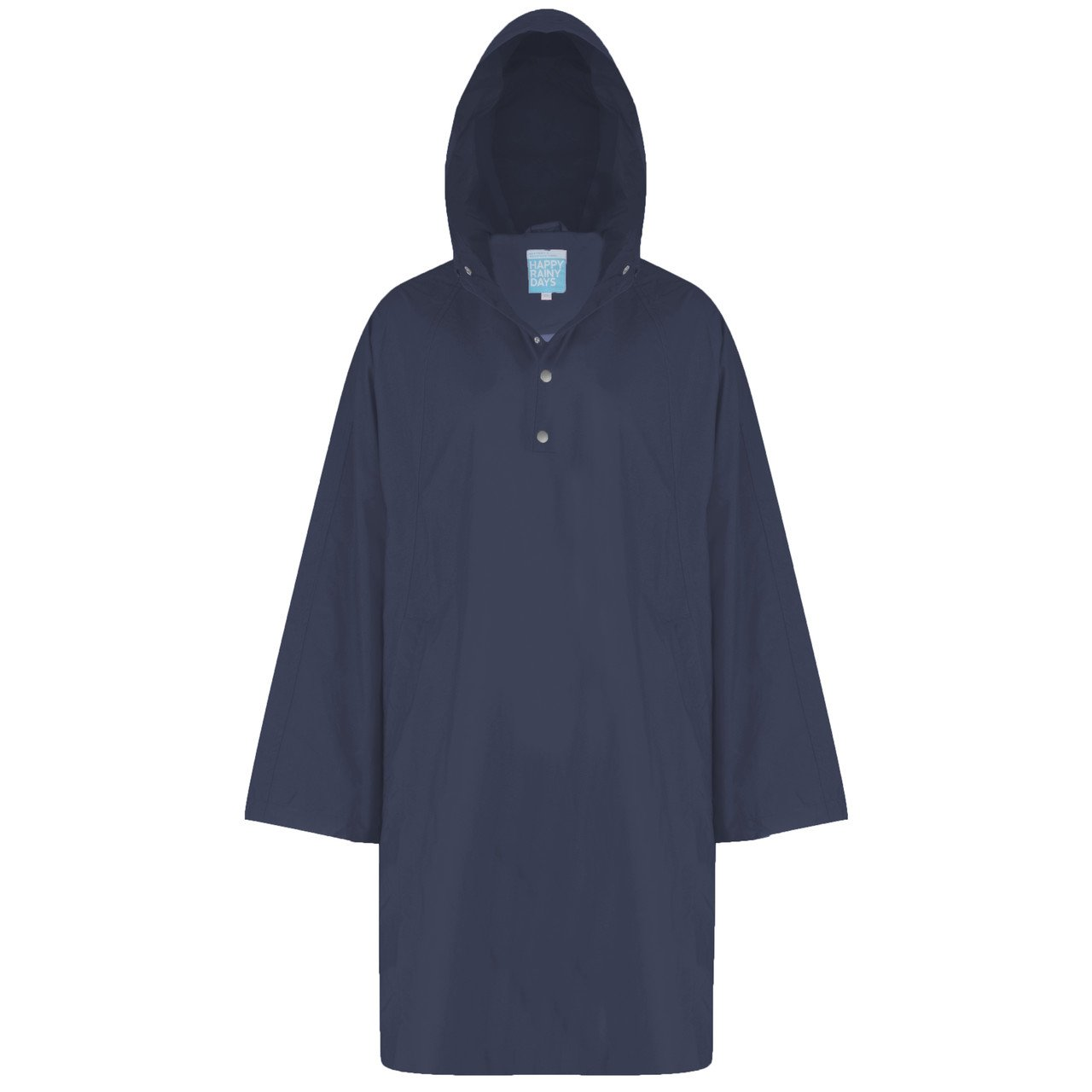 Navy bluee Happy Rainy Days Women's Poncho Cape