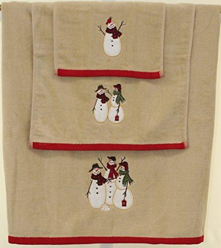 Snowman Bath (Tall Snowman Bath Towel)