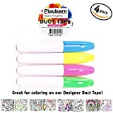 cool duct tape - Design Color Me Duct Tape 48mm x 16 Feet - Color in Shapes and Pictures Kids Fun Extra Strong - By Playlearn (Marker Set)