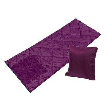 Baoblaze Saco de Dormir Confort Acampar Senderismo Actividades Al Aire Libre Cama de Temporada 4 - púrpura, 190 x 73 cm: Amazon.es: Deportes y aire libre