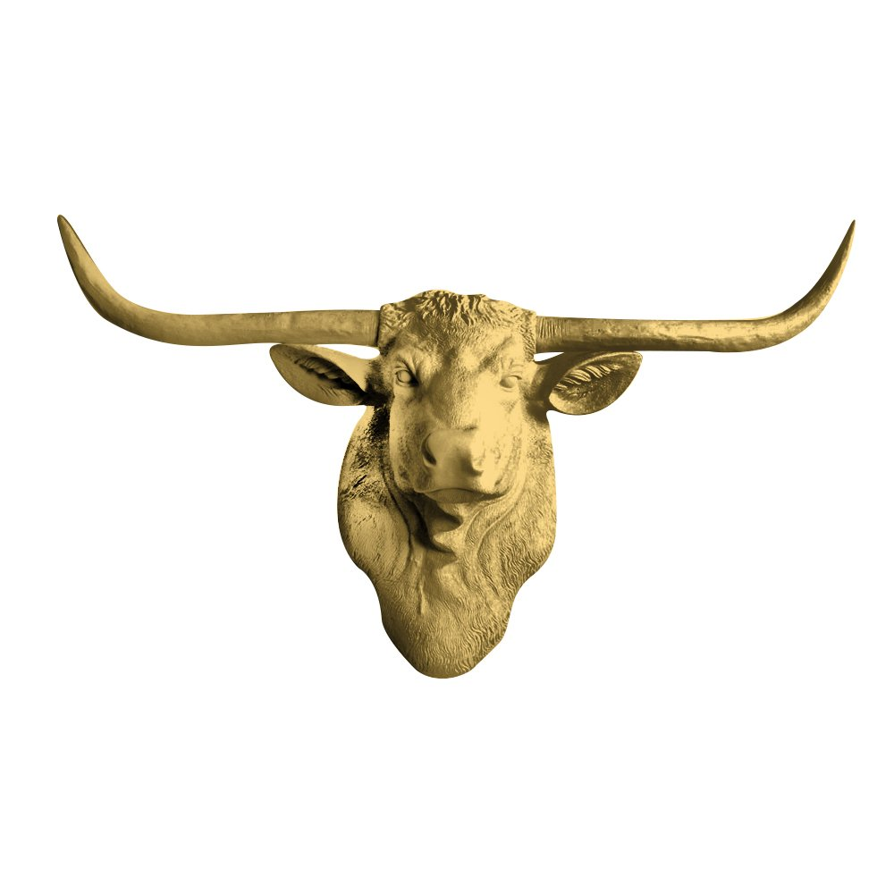 Amazon.com: Faux Texas Longhorn Cow Head Wall Hanging Sculpture by ...