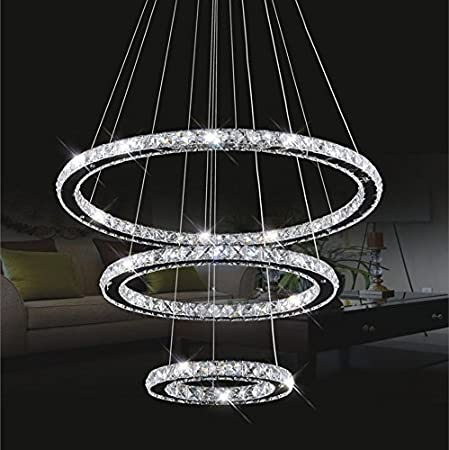 Crystal ceiling light topmax led pendant light 30 50 70 cm 3 crystal ceiling light topmax led pendant light 30 50 70 cm 3 rings mozeypictures Image collections