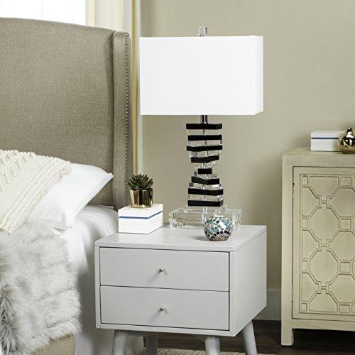 Safavieh Lighting Collection Crystal Key Black 25.75-inch Table Lamp