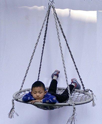 40'' Macrame Swing Tree Swing Max Weight: 666 Lbs Hammock Chair Tree Net Swing by Andy-macrame