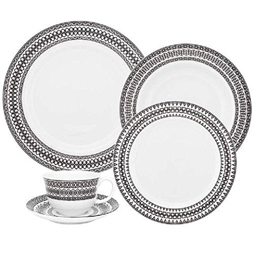 Oxford Flamingo Sense 42 Piece Porcelain Dinnerware Set, White - Oxford China Bone