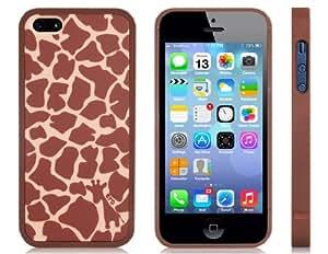 Conseguir Tope plástico con jirafa impresión mate cubierta trasera para iPhone 5S / 5