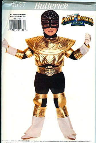 Butterick 4657 Power Ranger Gold Trey of Triforia Childs Costume Pattern All Sizes xs to L (4 To 14) (Power Ranger Halloween Costume Pattern)