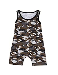 Infant Toddler Baby Boy Clothes Camouflage Bodysuit Romper Jumpsuit Clothes Outfits