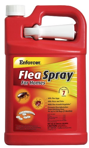 Enforcer Flea Spray for Homes, 128-Ounce (Best Stuff To Get Rid Of Fleas In The House)