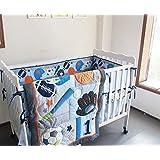 F.C.L 8 Pieces Baby Boy Sport Crib Bedding Set