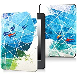 Case for kindle paperwhite-Original Design Case Skin with Auto Wake / Sleep for kindle paperwhite (Fits 2012, 2013, 2015 and 2016 Versions) (Colored fish)