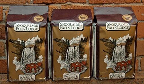 Snoqualmie Falls Lodge Old Fashioned PANCAKE & WAFFLE Mix 5lb. (3 Bags) by Snoqualmie Falls Lodge