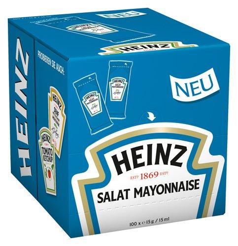 Heinz Salat Mayonaise 100 Portionsbeutel a 15g, 1er Pack (1 x 1.5 kg)