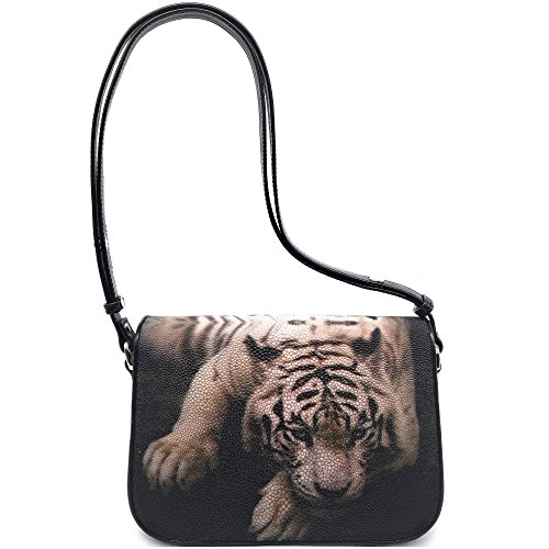 Stingray Genuine Leather Shoulder Bag Woman Smart Style Nice Looking Size 24 x 7.5 x 17 cm. (Sleep Tiger) by Treasure