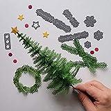 DLciwi® Troqueles de corte de árboles de Navidad, árbol de Navidad, plantilla de corte DIY de acero al carbono, tarjeta de felicitación, tarjeta de papel, troquelado de metal para decoración de Navidad