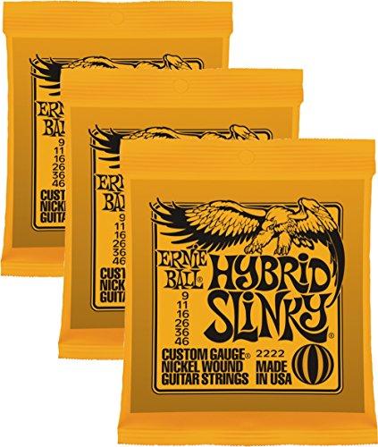 - Ernie Ball 2222 Nickel Regular Slinky Orange Electric Guitar Strings 3 Pack