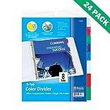 Binder Divider, Bazic 8-tab Index Dividers For Binders (24 Unit Case)