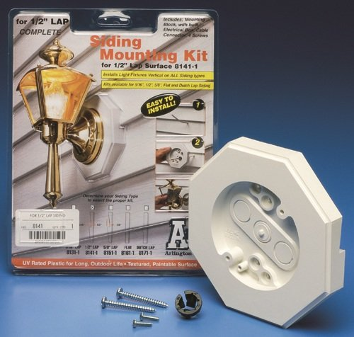 Arlington 8141 Vertical Siding Lamp Mounting Kit With