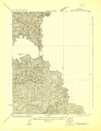 YellowMaps Shasta Valley Sheet No 13 CA topo map, 1:24000 scale, 7.5 X 7.5 Minute, Historical, 1922, 23.3 x 17.9 IN – Paper