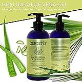 PURA D'OR Organic Aloe Vera Gel, Lemongrass Scent